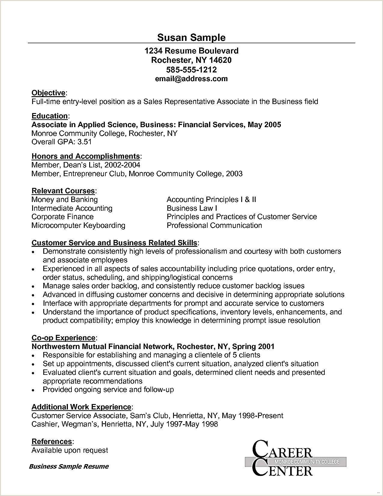 Sample Cover Letter For Fresh Graduate Without Experience