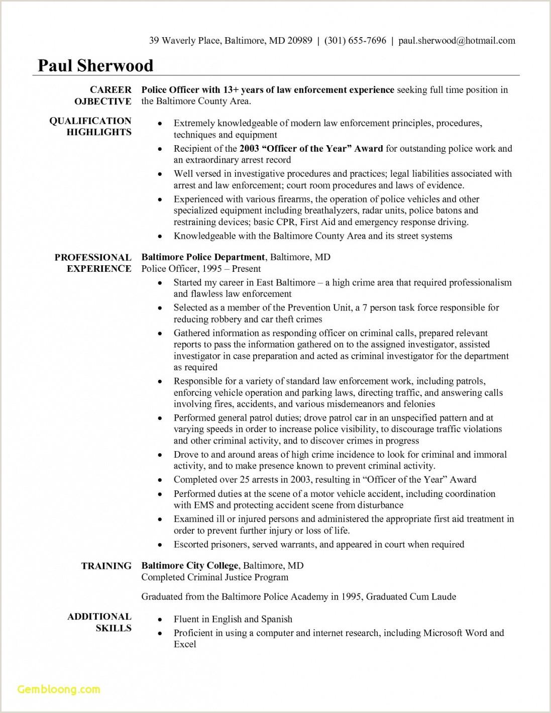 Luxury Probation ficer Resume