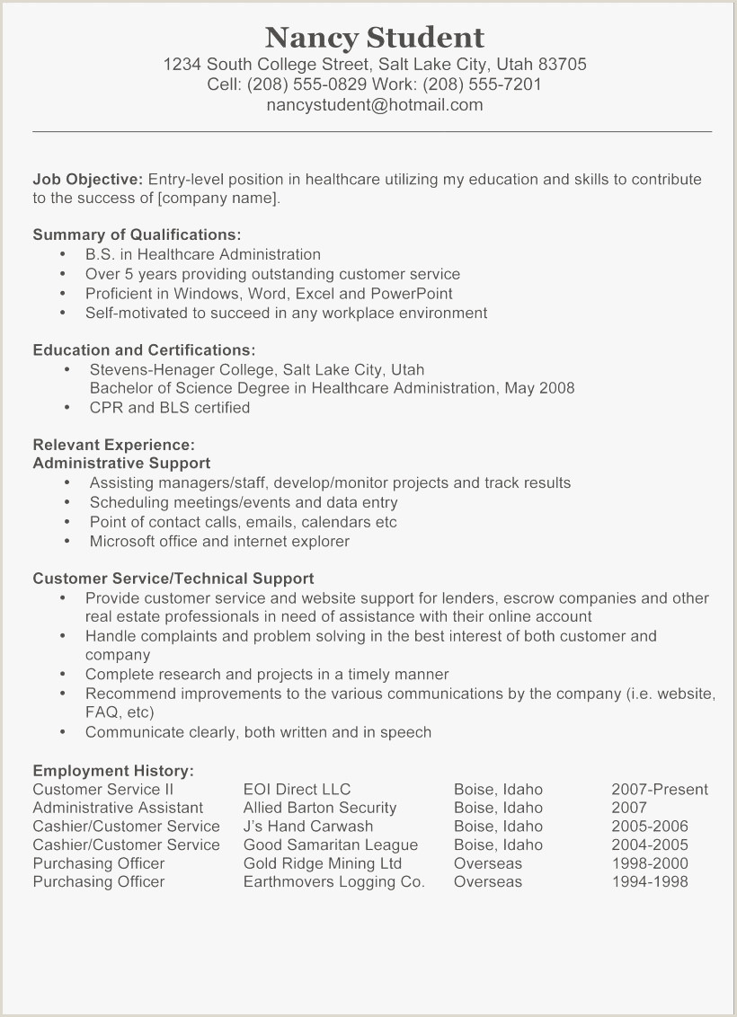 Administrative Resume Objective New Resume Objective Samples