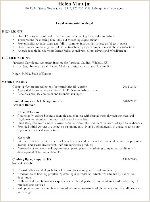Paralegal Resume Template Sample Corporate Paralegal Resume