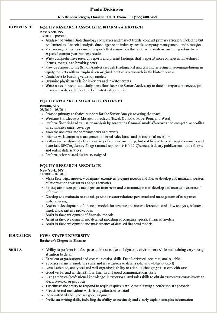 Equity Research associate Resume Research associate Resume Sample – Emelcotest
