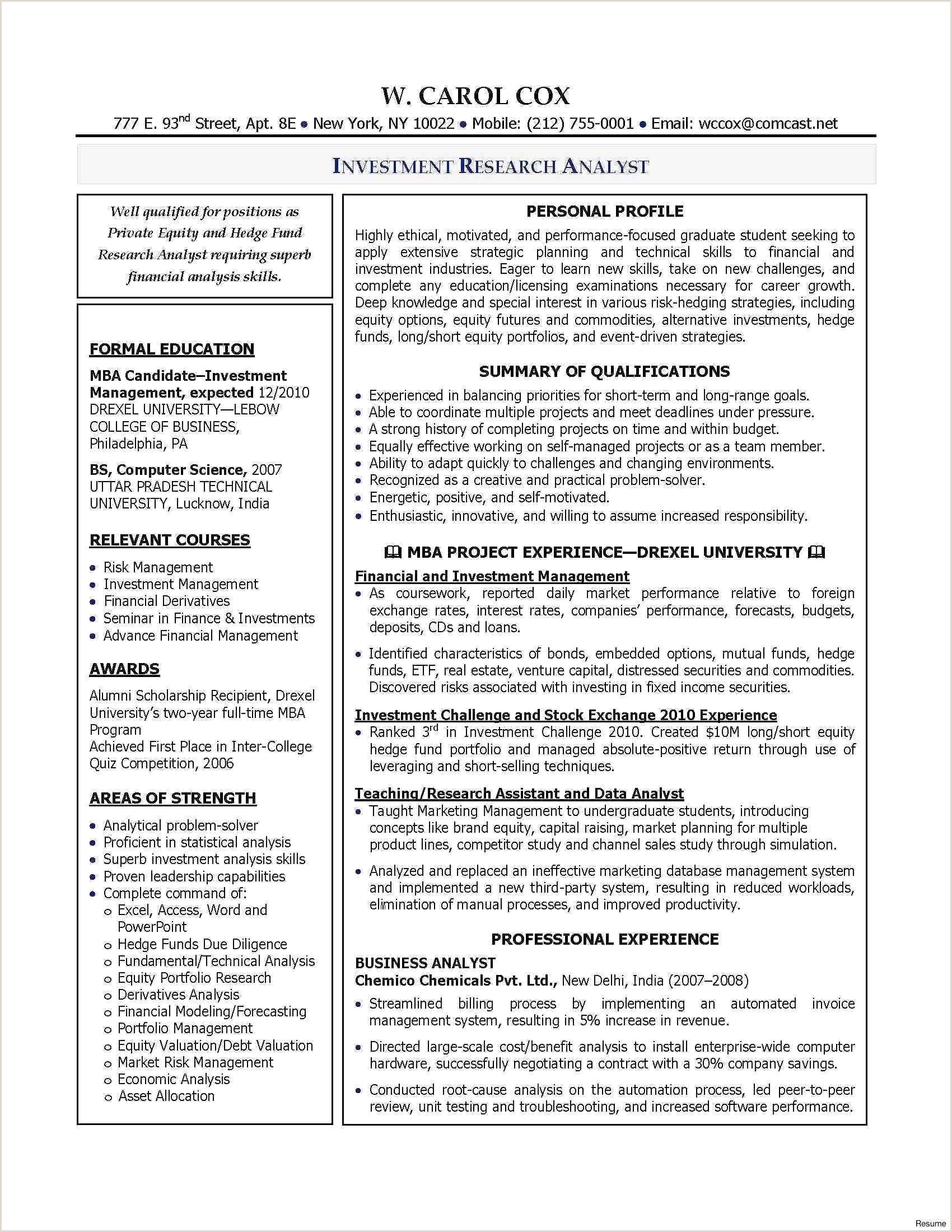 Equity Research Cover Letter Research Analyst Cover Letter Luxury Retail Manager Cover