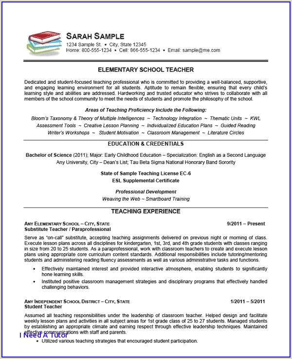 Esl Teacher Resume Examples Best Sample Childhood Teacher Resume – 50ger
