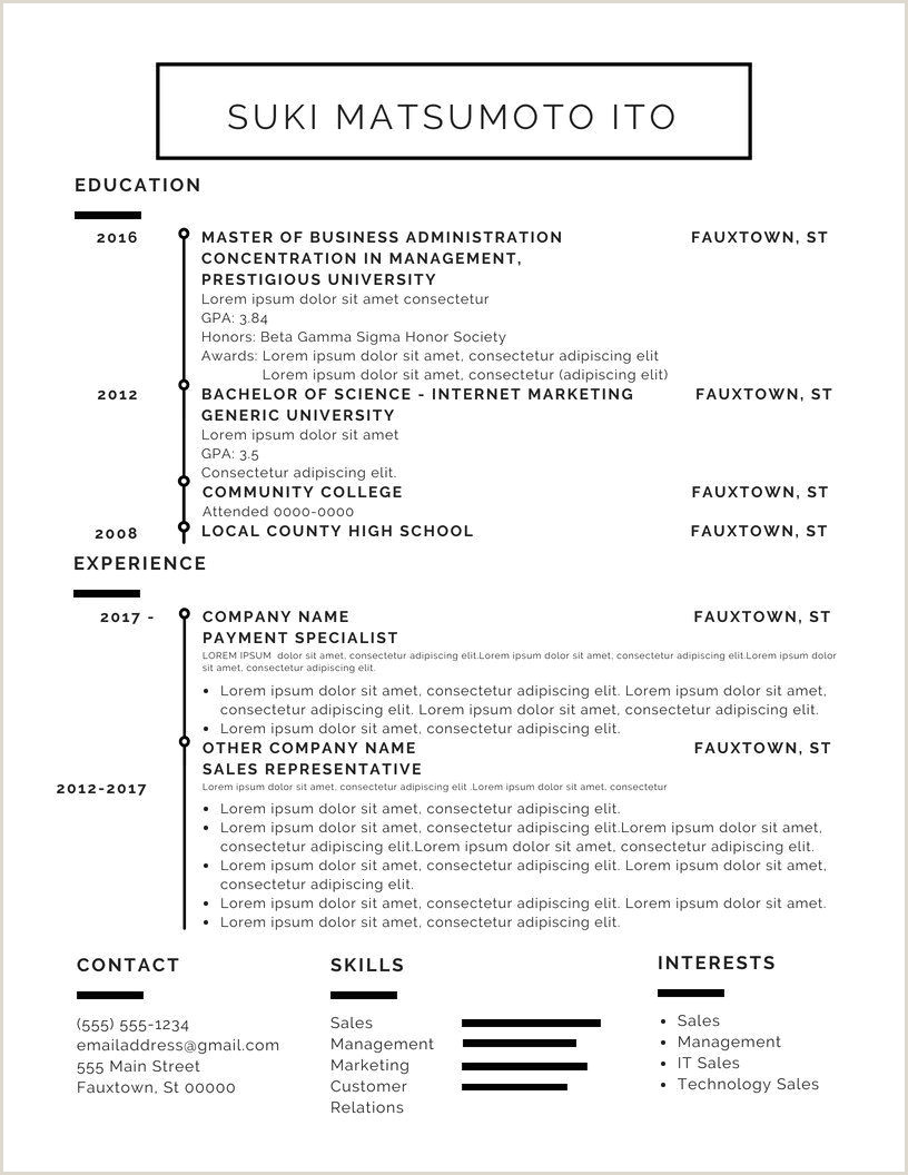 Résumé Design Long Dog English Co