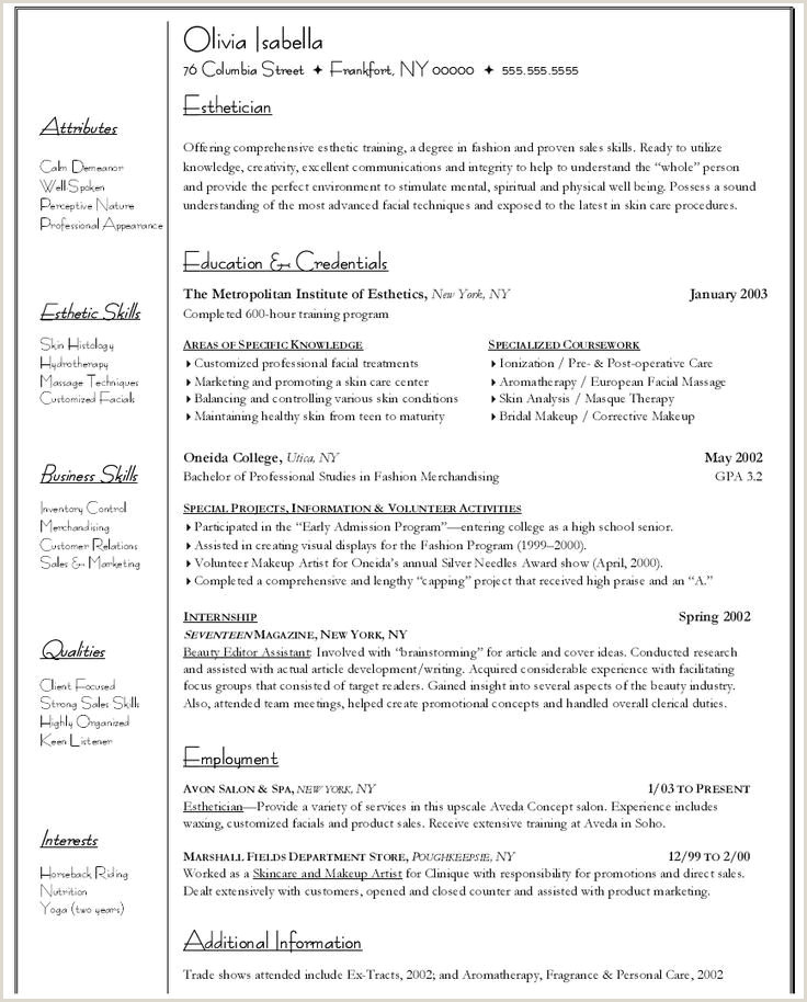 Esthetician Resume Template Download 83 Esthetician Resume Sample Objective Esthetician