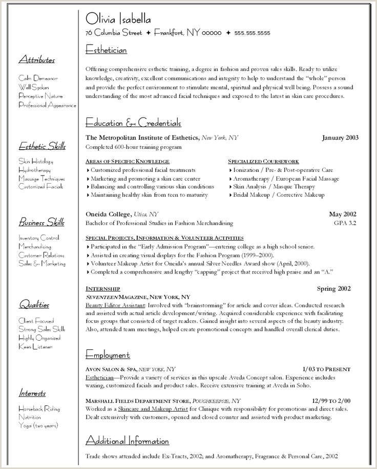 83 Esthetician Resume Sample Objective Esthetician