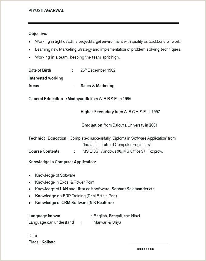 English Cv Template Resume Curriculum Vitae Example Student