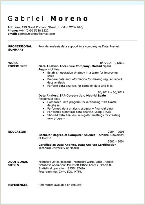 Europass Cv format 2019 English Cv Template Word