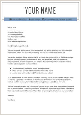 120 Free Cover Letter Templates MS Word Download