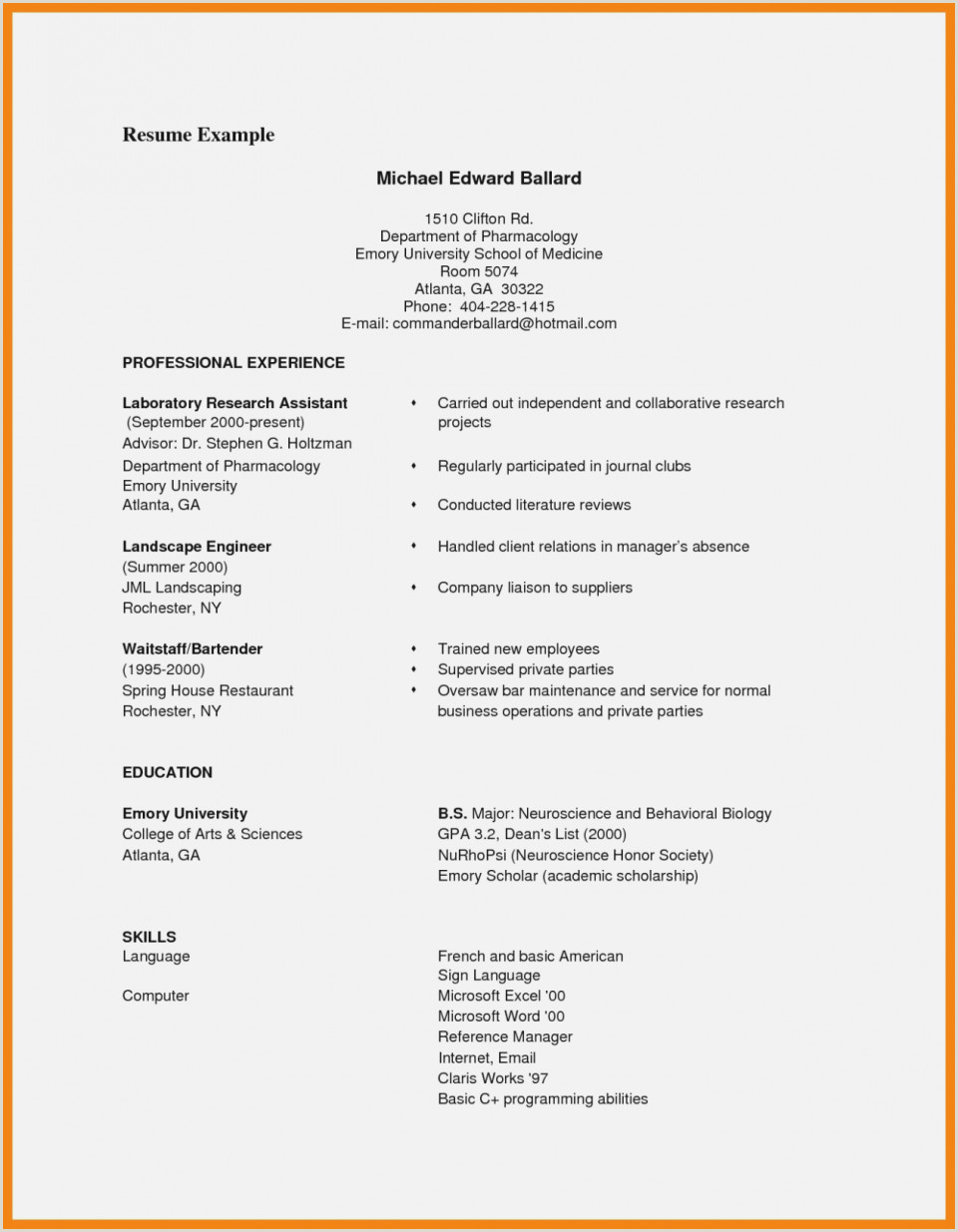 Resume Template Pdf Professional Sample Sales Lady Ea