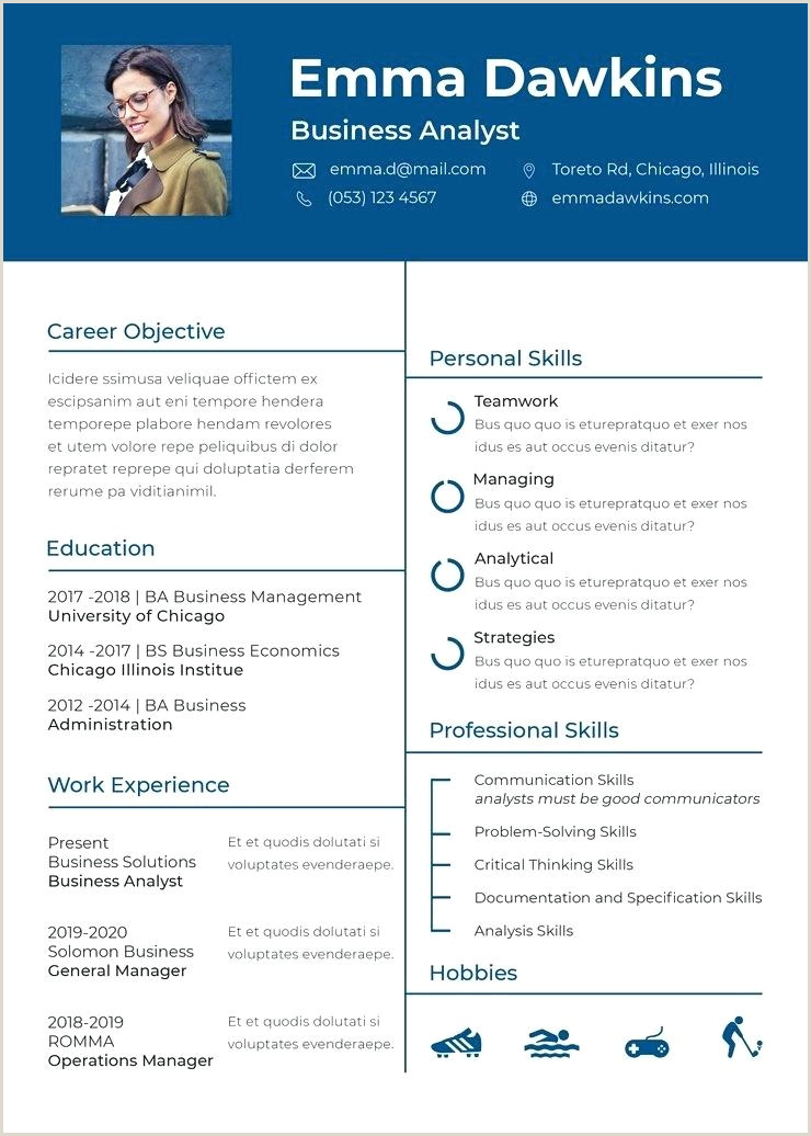 Free Basic Analyst Resume Template In Format Cv English Europass