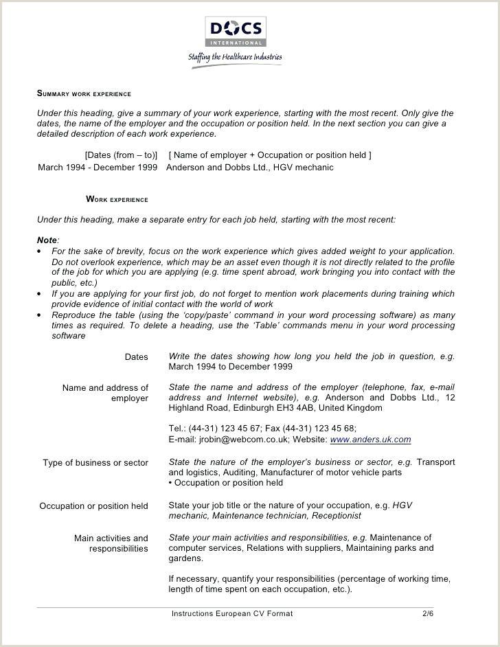 Great Resume Words Fresh Curriculum Vitae Template Free Best