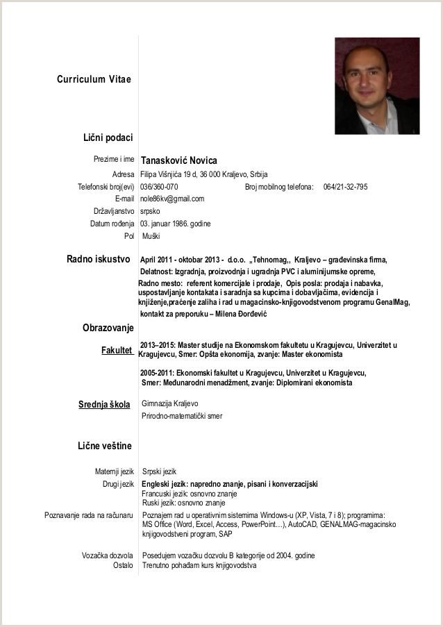 european curriculum vitae format LUMENS Fakultet za