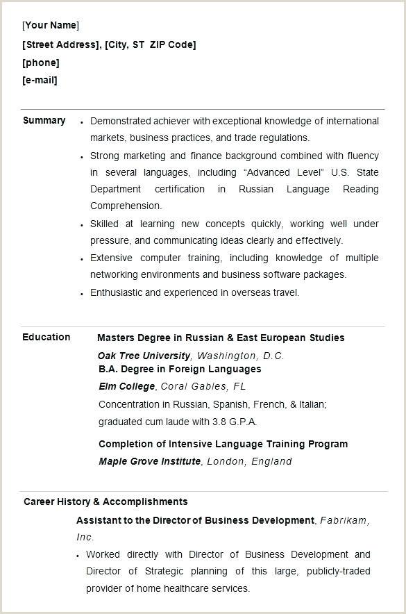 Lovely Format Template Doc European Cv Example Curriculum