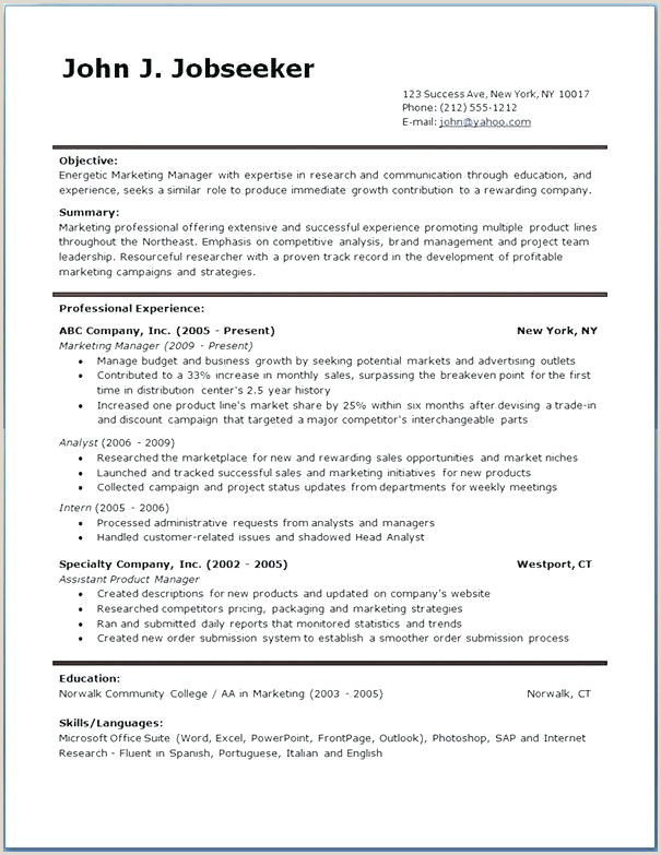 Europass Cv Format In Word English Cv Template