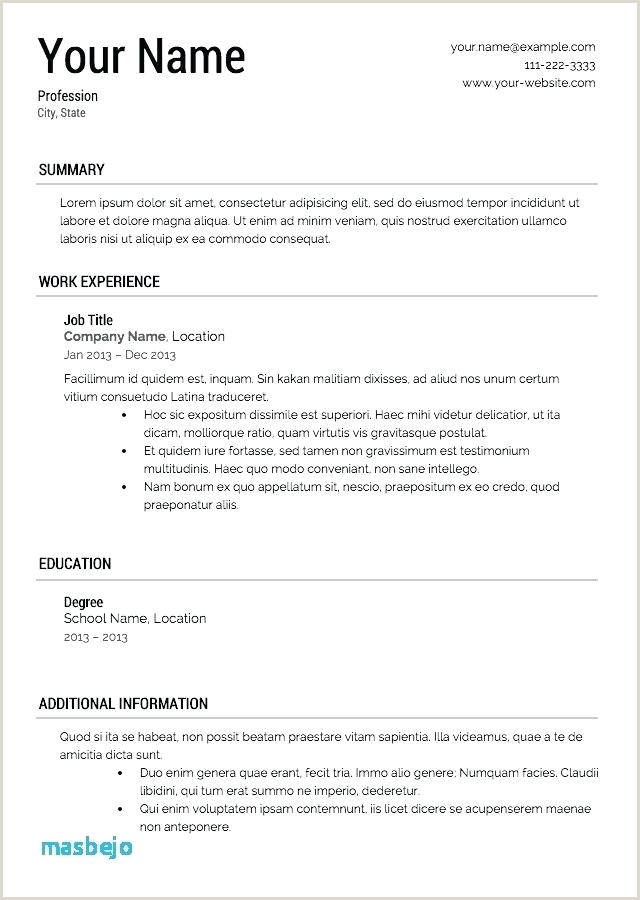 New Format For Freshers Download Template Cv Latex line