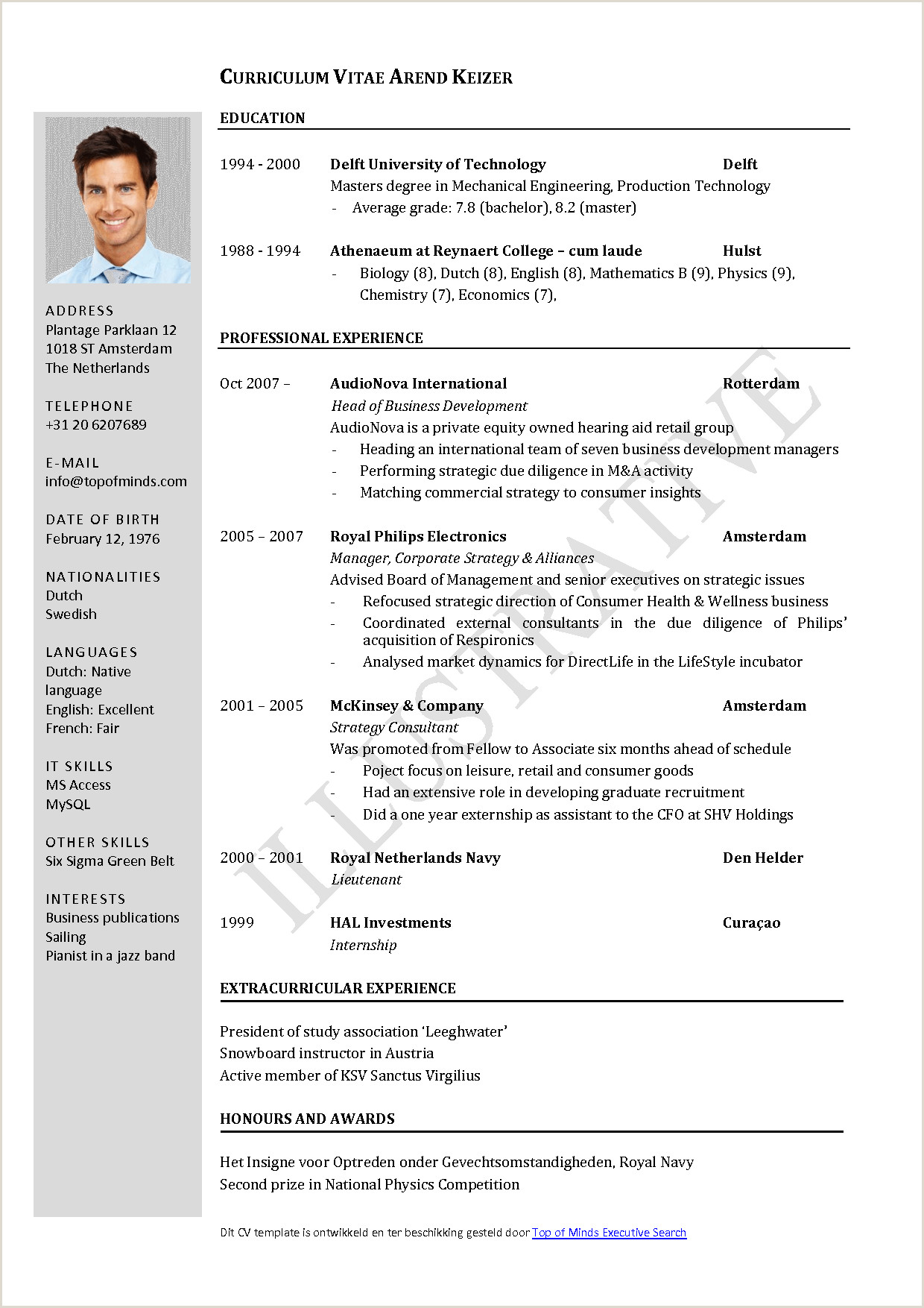 Resume Template Download Pdf – Cv Template Download Pdf