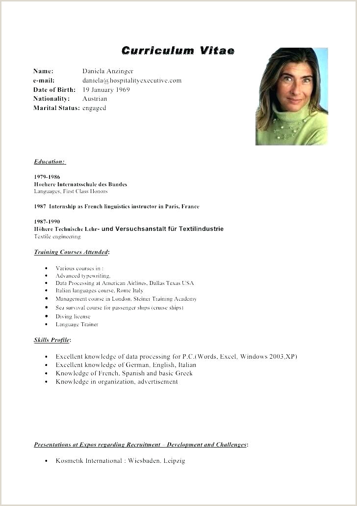 Europass Cv format Sample Lovely format Template Doc European Cv Example Curriculum