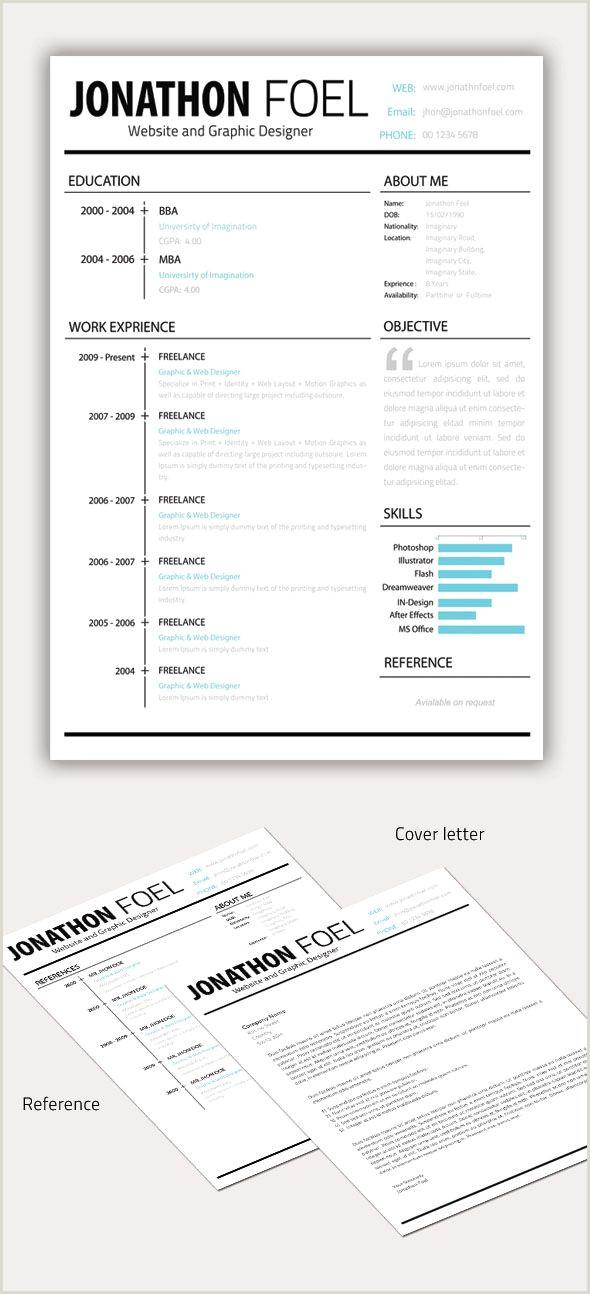 Minimal Resume CV Template Dise±o Gráfico