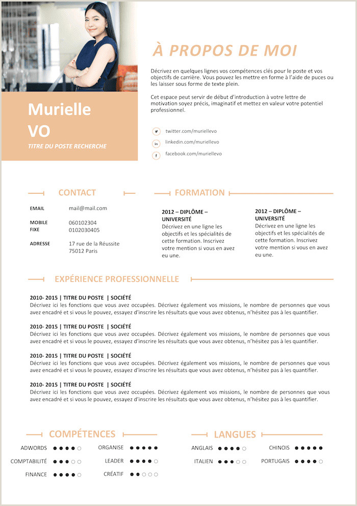 Mise En forme Cv Simple Marketing and Munications Resume