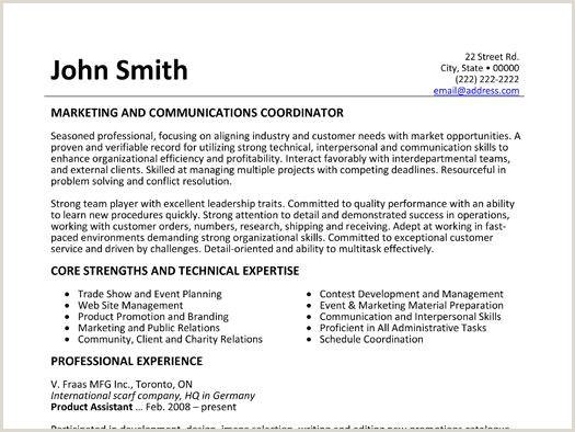 Marketing and munications Coordinator resume template