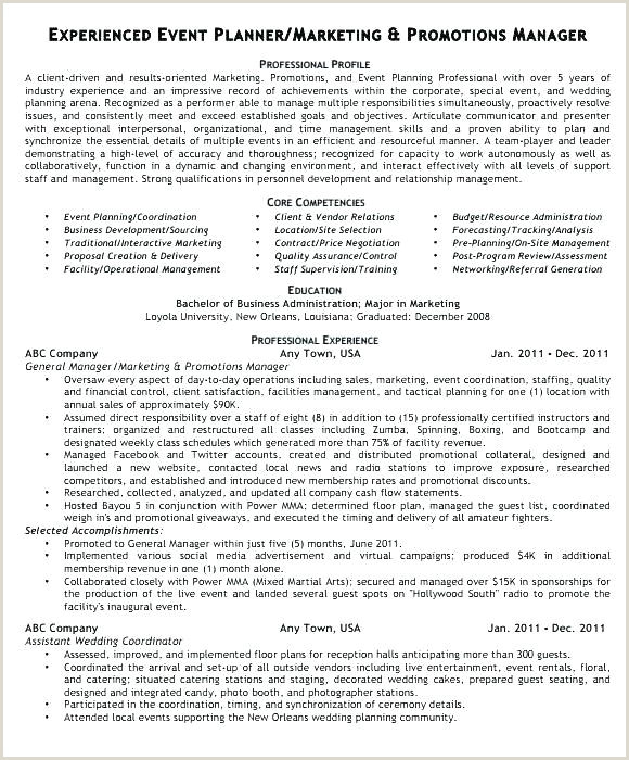 Event Planning Cover Letter 24 event Planner Resume Examples