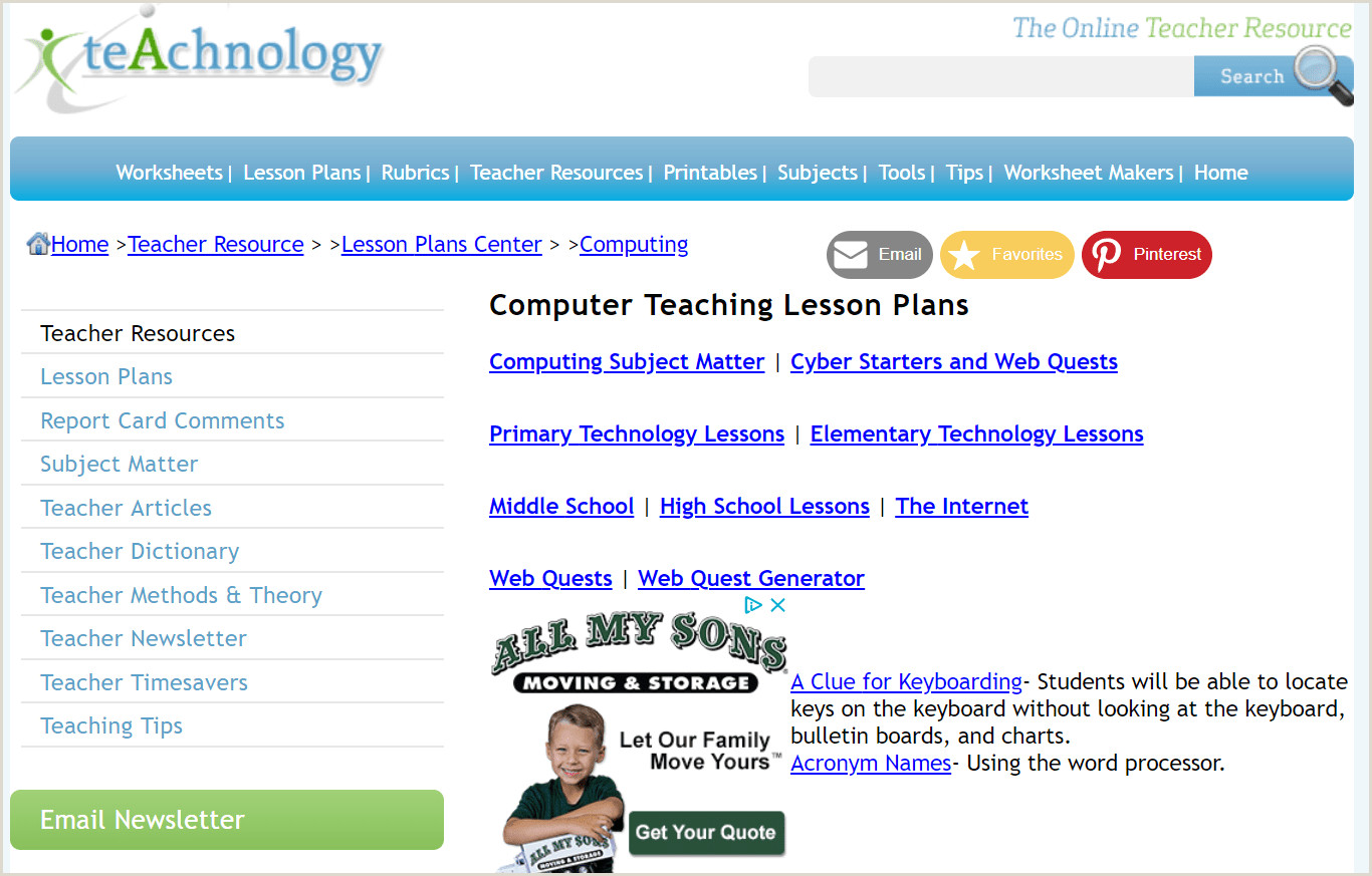 Lesson Plans for Teaching Students Microsoft fice