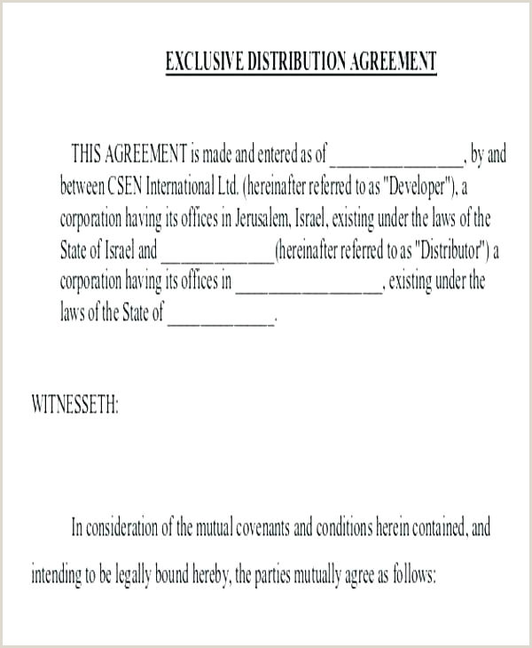 Exclusive Distribution Agreement Template Canada Exclusive