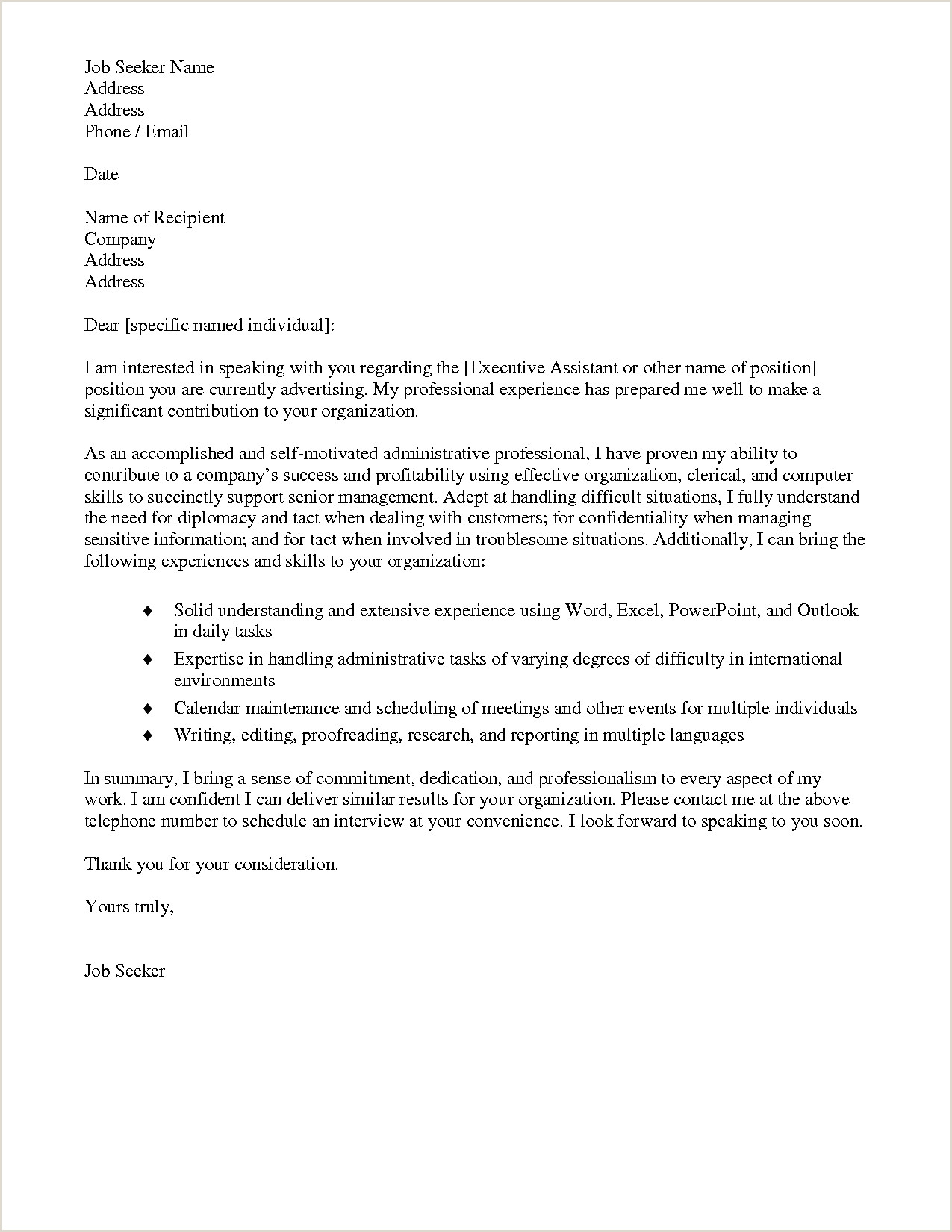 12 13 personal assistant cover letter samples