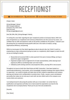 Executive assistant Cover Letter Examples Secretary Cover Letter Example
