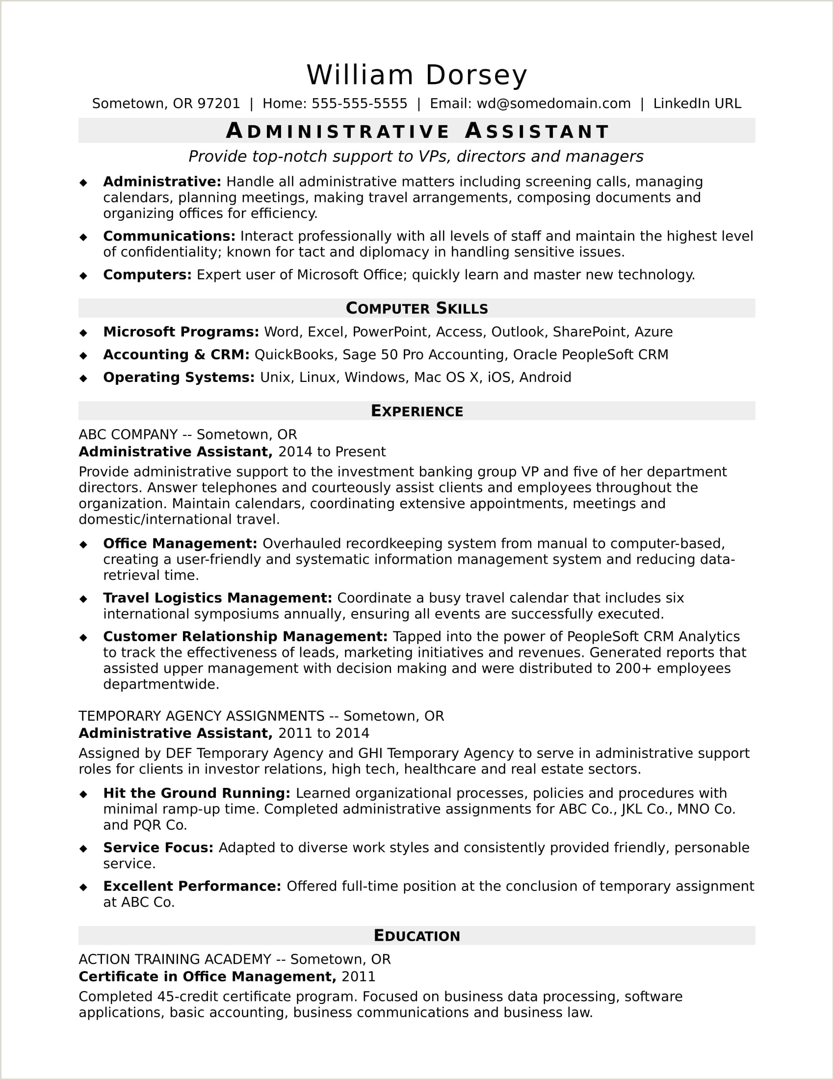 Entry Level Administrative assistant Resume Fresh Meaning
