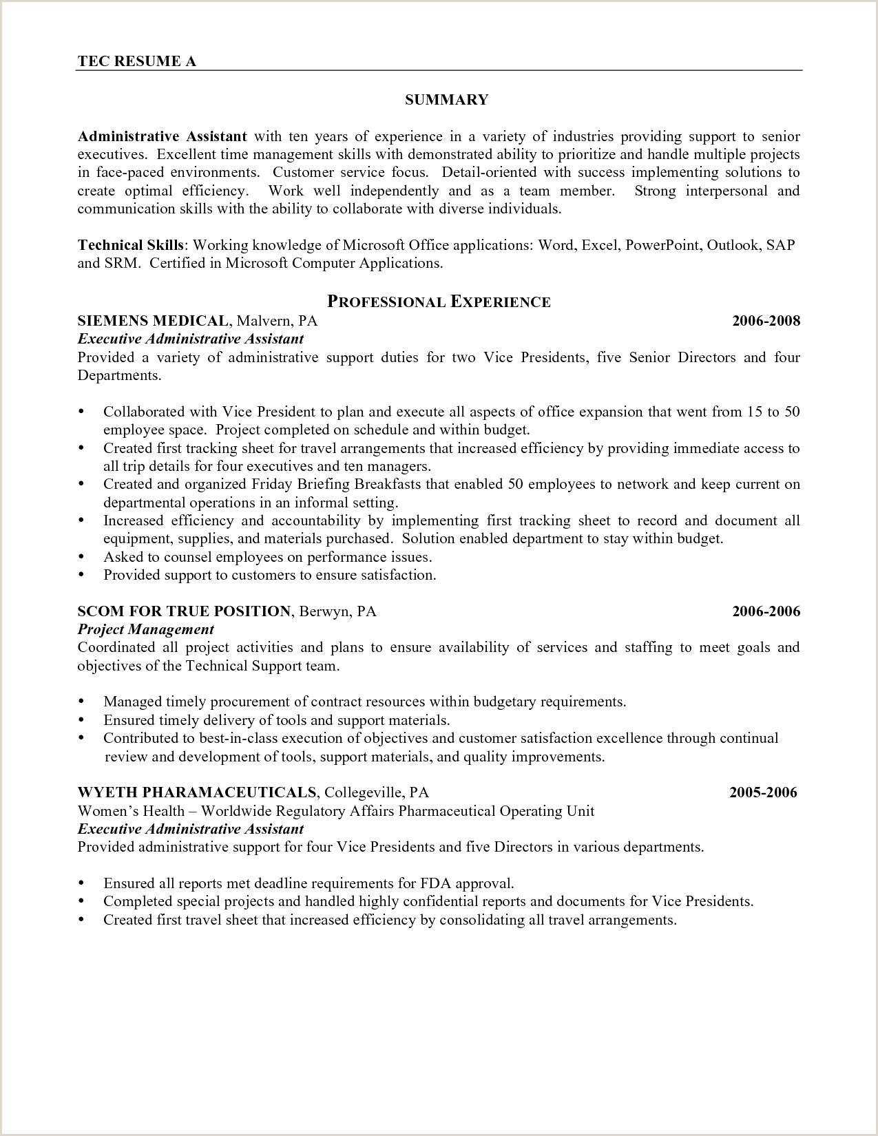 Senior Executive Cover Letter Examples Examples 4 Letter