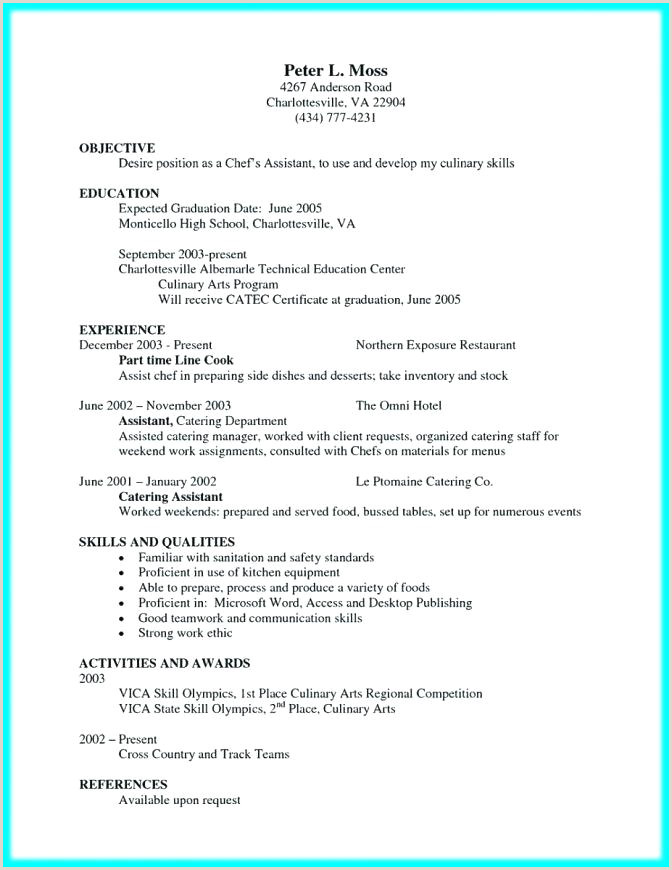 Executive sous Chef Resume Chef Objective Resume – Paknts