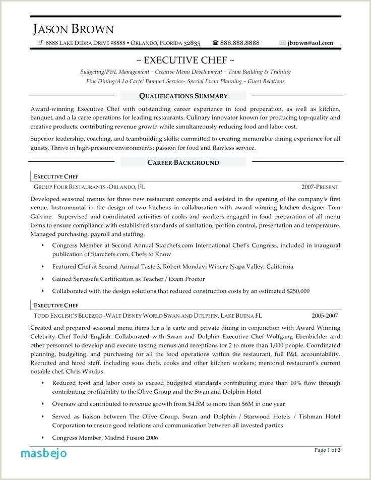 Executive sous Chef Resume Chef Resume Example Chef Resume Sample Writing Guide