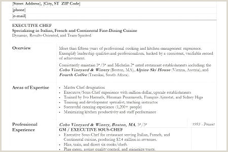 Executive sous Chef Resume sous Chef Resume Pastry Chef Resume Elegant Chef Resume