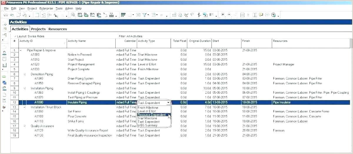 test scenario template xls