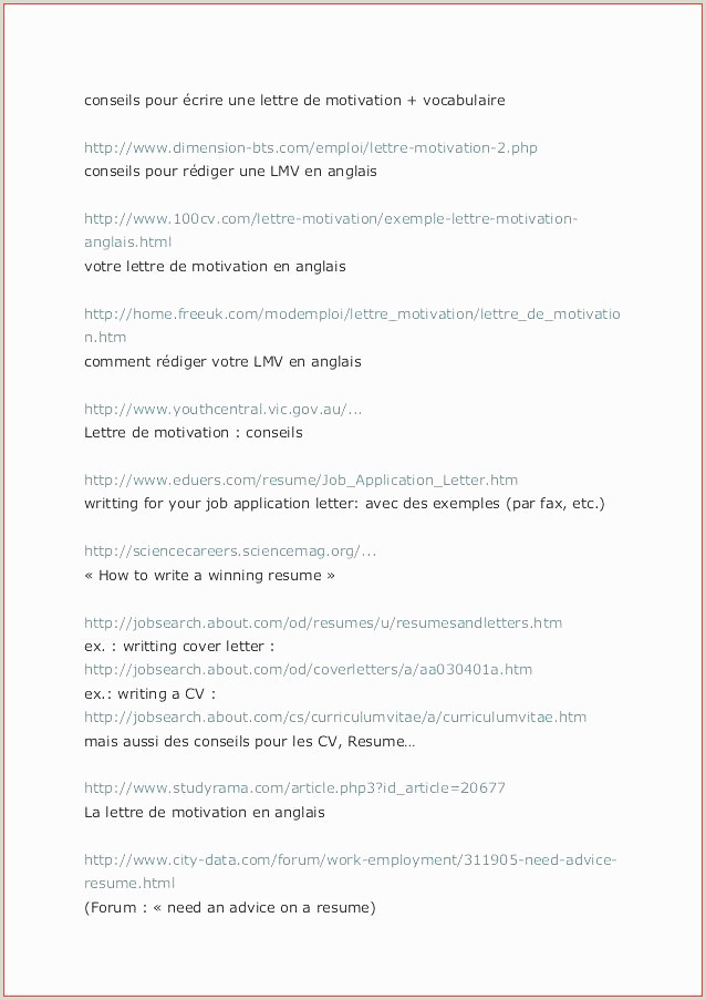 Exemple De Bon Cv Pdf Exemple De Lettre En Anglais Pour Un Ami Pdf Nouvelle 80