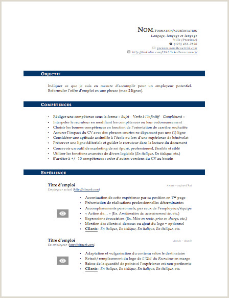 Exemple Cv Canada Quebec Download Our Sample Exemple Cv