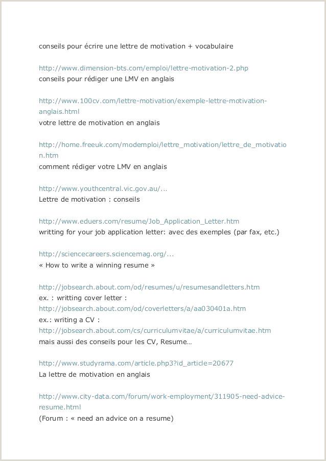 36 Cv Et Lettre De Motivation En Anglais