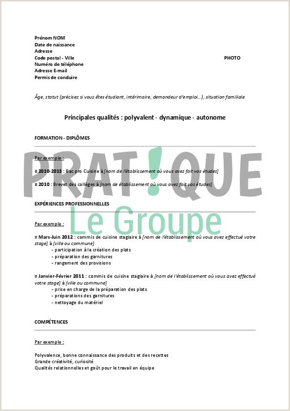 Exemple De Cv Anti Chronologique Pdf Cv Etudiant Hotellerie