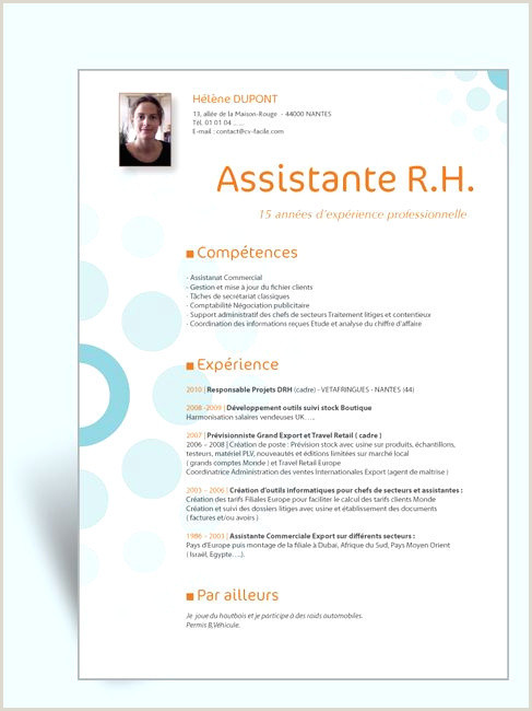 Cv Assistant Administratif Et mercial