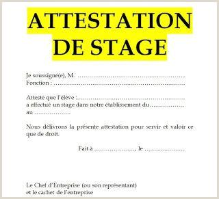 Exemple De Cv Au Cameroun Exemple De Mod¨le D attestation De Stage En Word Doc