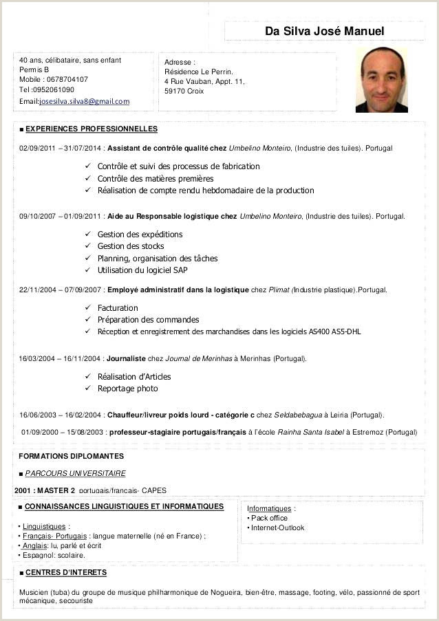 Cv Conducteur De Bus Cv Chauffeur Livreur Maroc Cv