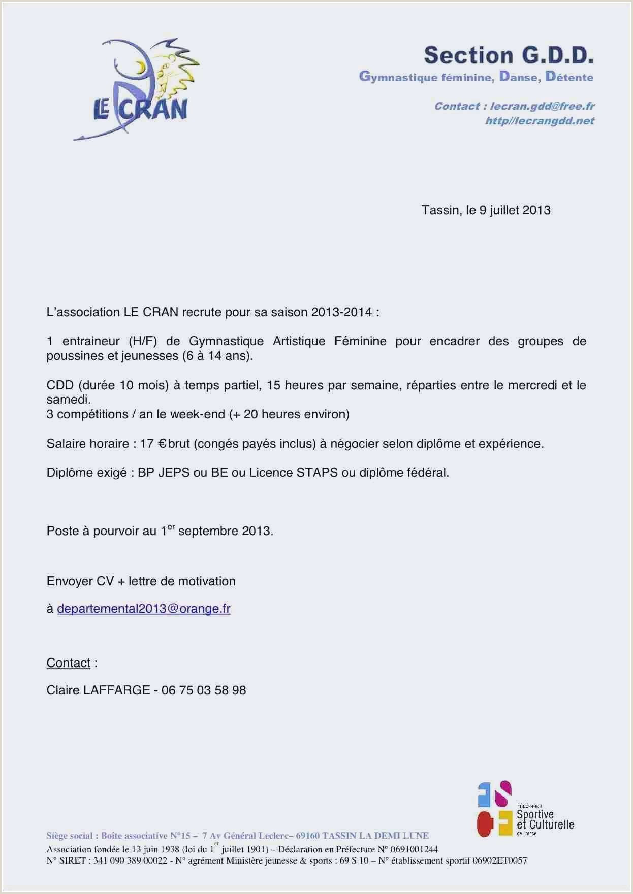 Exemple Lettre De Motivation Stage Seconde Bac Pro merce
