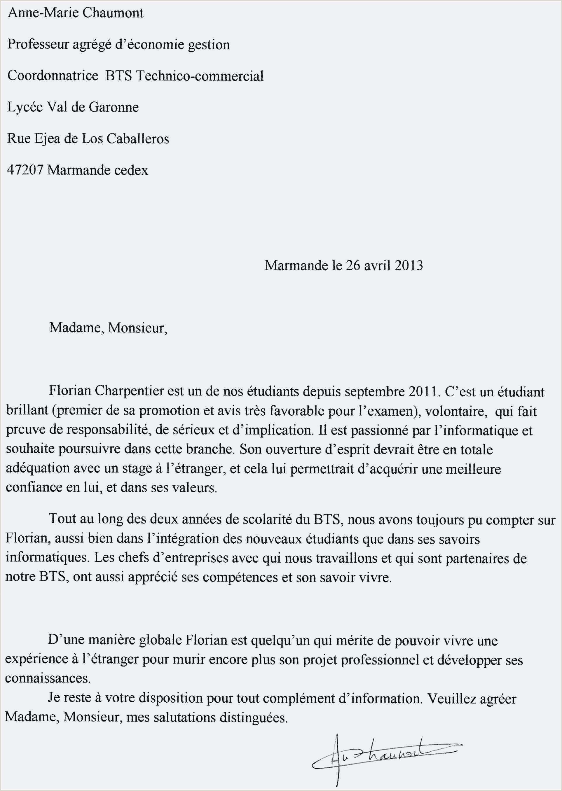 Nouveau Lettre De Motivation Pour Dut Gea Descartes Best