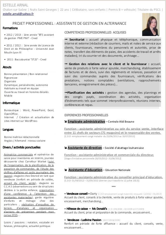 92 Exemple Cv Et Lettre De Motivation