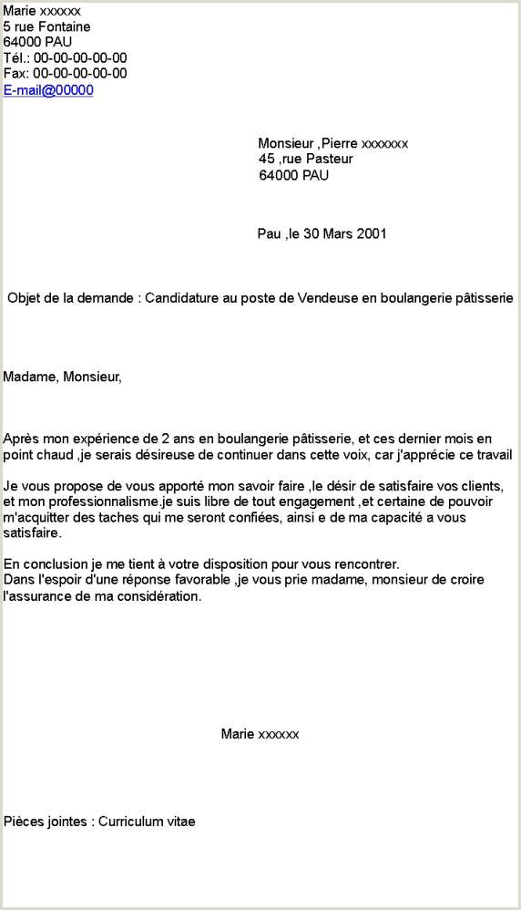 Lettre De Motivation Boulangerie Nouveau Beau Lettre De