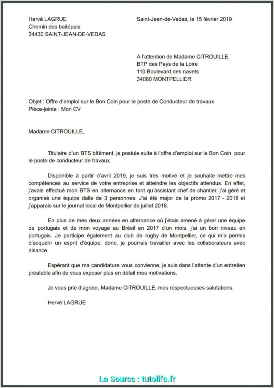 Qualifié Lettre De Motivation Pour Alternance Btp Mod¨les De