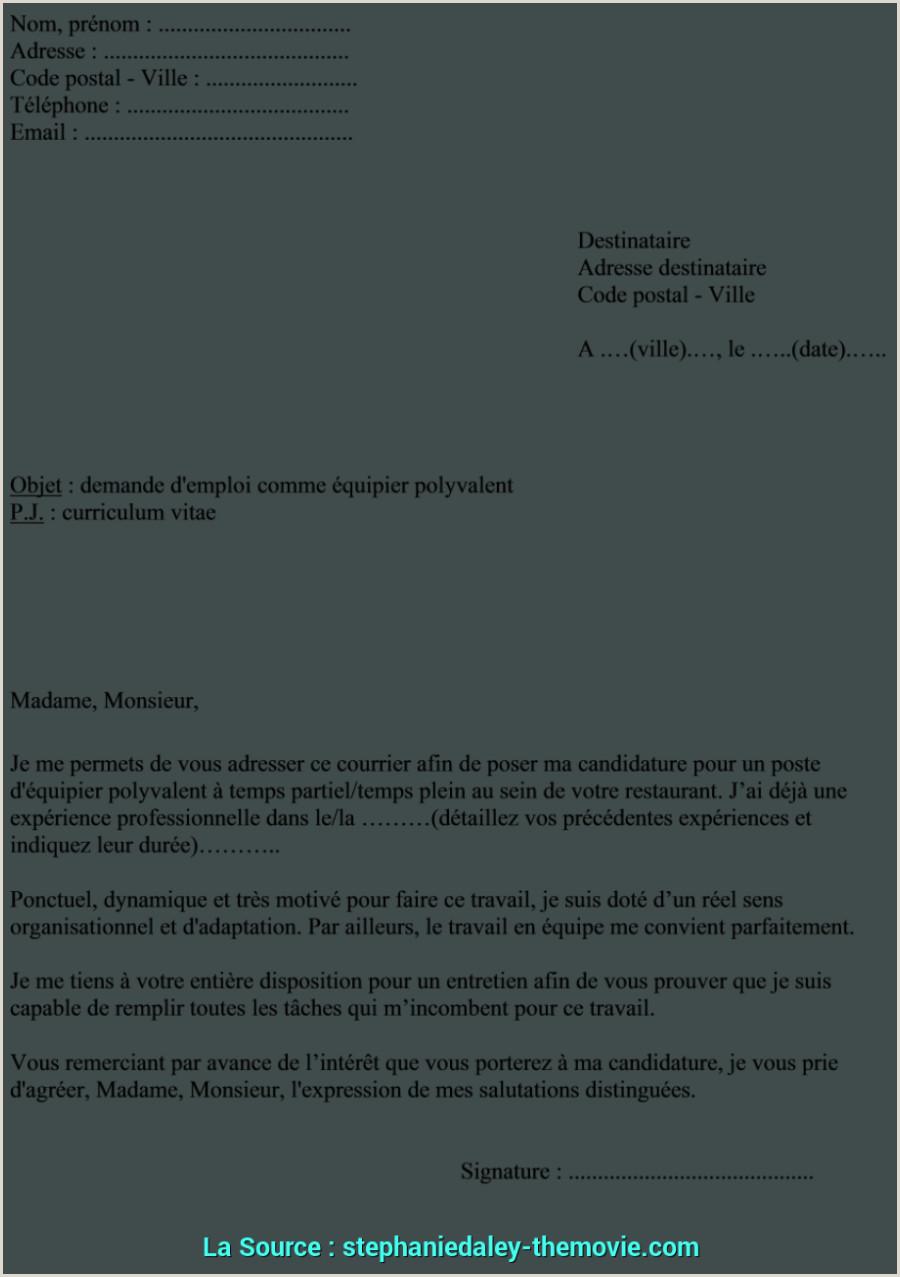 Pratique Lettre De Motivation Mcdo Exemple Cv Lettre De