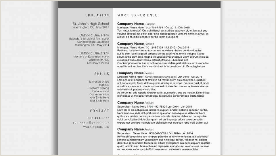 Modele Cv Cana n Word Gratuit Resume Template Examples